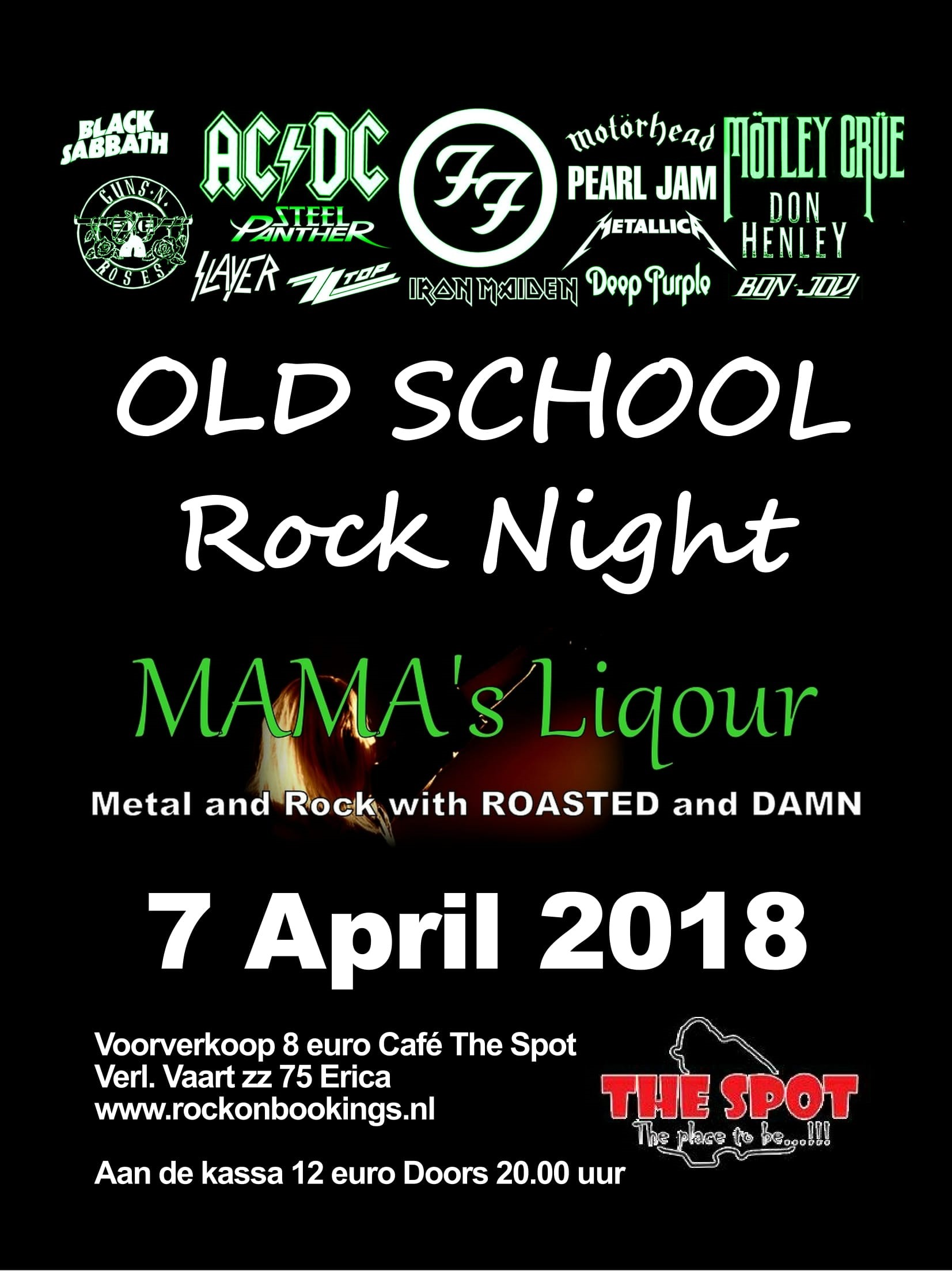 Uitgaansagenda Erica: Old School Rock Night